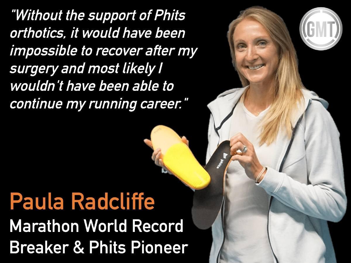 Paula Radcliffe Phits orthotics