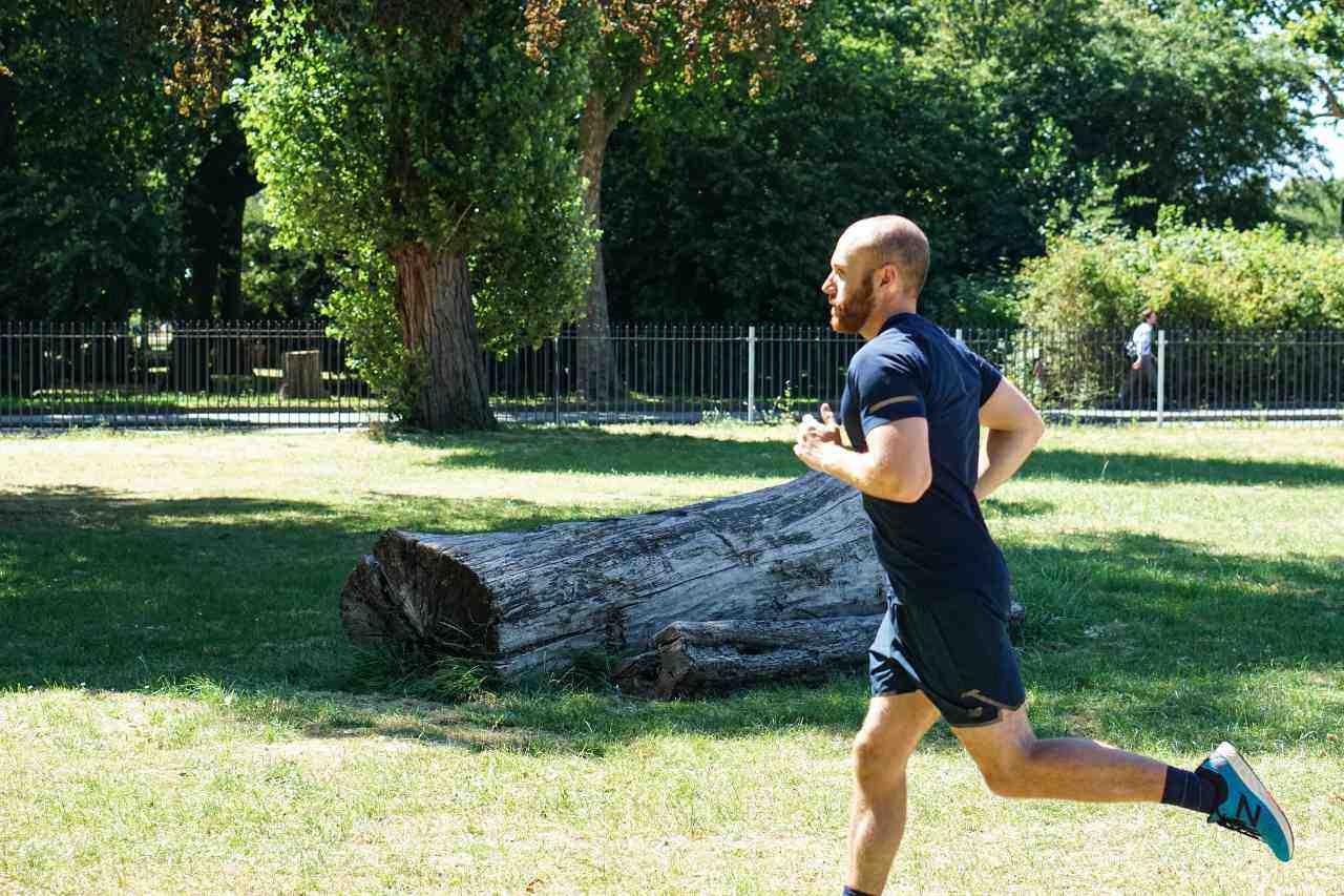 correct head position when running